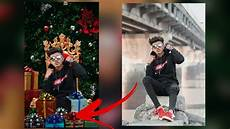 christmas photo editing tutorial 2019 merry christmas photoshop manipulation youtube