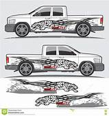 Truck And Vehicle Decal Graphic Design Stock Vector
