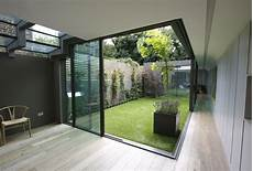 modern glass house open landscaping decorations the minimal windows slide away from the corner to create