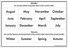 seasons worksheets cut and paste 14760 months seasons ordering cut and paste by elise s resources tpt