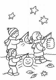 Malvorlagen Kinder Grundschule Ausmalbild Kindergarten Kinder Beim Laternenumzug