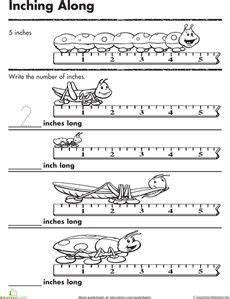 non standard measurement length worksheets for kindergarten grade one kinder measurement