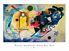 gelb rot blau kandinsky gelb rot blau mit schrift poster kunstdruck bei germanposters de