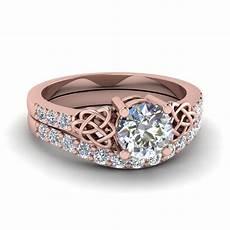cut diamond wedding ring in 14k rose gold fascinating diamonds
