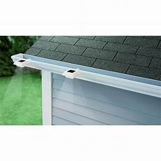 hton bay solar powered integrated led white roof gutter light 4 nxt 40001 the home depot