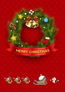 merry christmas wreath vector image 1510209 stockunlimited