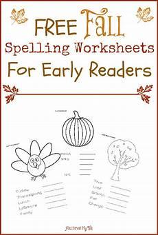 homeschool spelling worksheets 22416 free fall spelling worksheets for early readers free homeschool deals