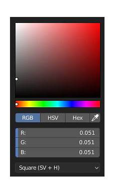 moving the color picker type and custom weight paint range