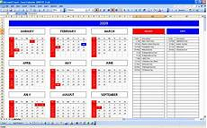 top 5 excel yearly calendar excel spreadsheet