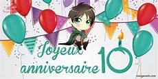 carte anniversaire 10 ans image anniversaire 10 ans garcon