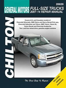 free car repair manuals 2012 chevrolet tahoe electronic valve timing gm avalanche silverado sierra suburban tahoe yukon chilton repair manual 2007 2014