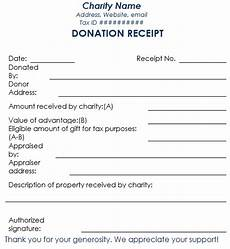 donation receipt template 12 free sles in word and excel