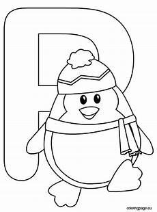 Ausmalbilder Buchstaben P Letter P Coloring Page