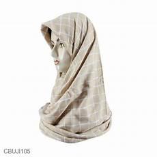 Jilbab Segi Empat Katun Ima Monochrome Square Jilbab