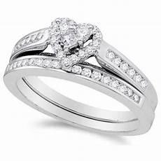 alluring heart ring halo cheap diamond wedding ring 1