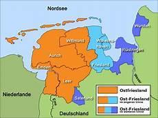 Ostfriesische Inseln Karte - ostfriesland