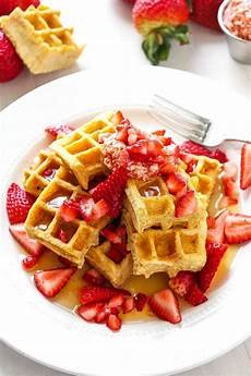 strawberry jam swirled waffles layers of happiness