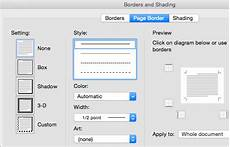 Add Change Or Remove A Page Border Word For Mac