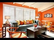 decoration de salon couleur orange