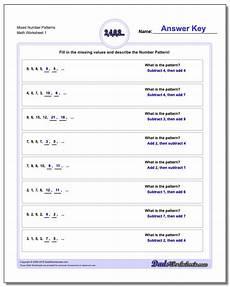 identifying patterns worksheets for grade 1 123 number patterns