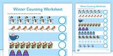 winter worksheets twinkl 20097 my counting worksheet winter made