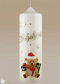 adventskerzen mit zahlen adventskerze weihnachtskerze frohes mit teddy baer