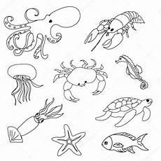 sea animals coloring printables 17478 sea animals coloring page stock photo 169 nuarevik 77064109