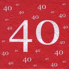 servietten 40 geburtstag mit pr 228 gung 20 st 252 ck 3 lagig