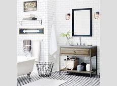 modern vintage bathroom   Bathrooms
