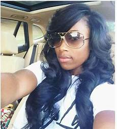 side part with bang sew in hairstyles pinterest sew bangs and sew ins