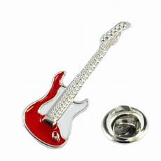 Pin On Guitars Red Electric Guitar Lapel Pin Badge From Ties Planet Uk