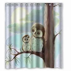 Owl Fabric Shower Curtain