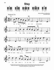 stay sheet music rihanna super easy piano