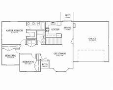 house plans rambler simple rambler house plans with three bedrooms 1271