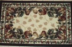 Kitchen Area Rugs With Fruit by Shaw Fruit Kitchen Rug Grapes Apples Pears