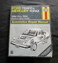 what is the best auto repair manual 1984 mitsubishi space electronic valve timing haynes 1984 thru 1994 ford tempo mercury topaz automotive repair manual 36078 9781563921285 ebay