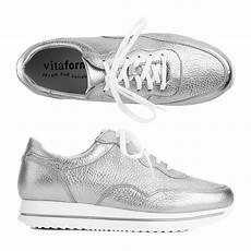 vitaform damen sneaker hirschleder metallic optik