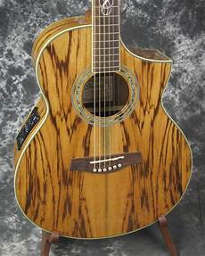 wood acoustic guitars exc used ibanez ew20zwe zebrawood acoustic electric guitar reverb