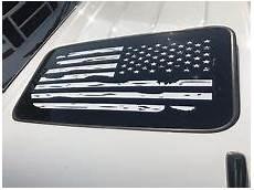 2 distressed american flags vinyl decals gmc chevy ford silverado gmc sunroof distressed american flag vinyl decal choose color
