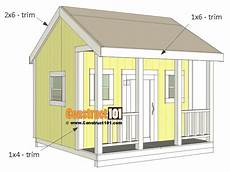 simple cubby house plans playhouse plans trim construct101