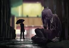 Paling Bagus 17 Gambar Anime Sedih Dibawah Hujan