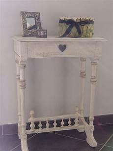 petit meuble télé meuble blanc patine grise les 400 coups de virginie