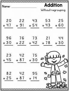 addition worksheet with regrouping for grade 2 9554 2 digit addition without regrouping distance learning packet grade math worksheets