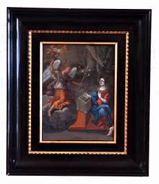 peinture sur cuivre peinture huile sur cuivre annonciation fin xvii eme d 233 but xviii eme tableaux religieux