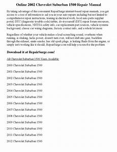 online car repair manuals free 2002 chevrolet suburban 1500 head up display 2002 chevrolet suburban 1500 repair manual online by parker issuu