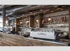 Restaurant open kitchen interior design, small coffee shop