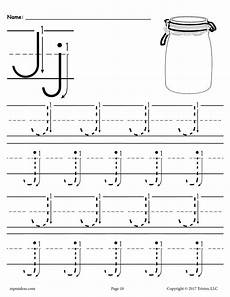 printable letter j tracing worksheet with number and arrow guides supplyme