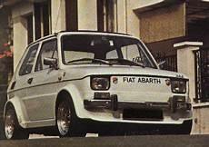 Kanarekdriver Fiat 126 Abarth Bianco