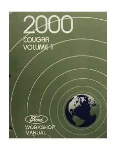 free auto repair manuals 2000 mercury cougar head up display 2000 mercury cougar factory service manual 2 vol set