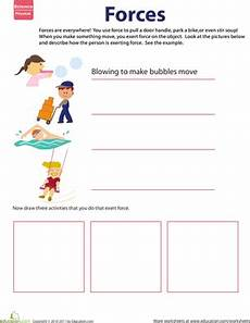 learn about force worksheet education com